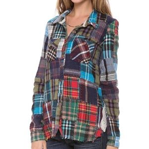 Free People Lost in Plaid Buttondown/Flannel